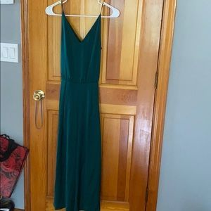 H&M Emerald green jumpsuit
